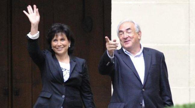 """Anne Sinclair """"est dans une relation avec Dominique Strauss-Kahn privée, intime, qui nous échappe. La norme affective n'existe pas. Je n'ai pas le droit de la juger et je pense que les femmes ont tort de la juger"""", selon Sophie Marinopoulos. – Miguel Medina afp.com"""