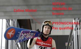 Coline Mattel est l'une des nombreux athlètes de saut à skis à être passés en un éclair de la lumière à l'ombre