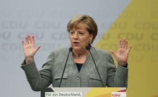 Angela Merkel le 12 août 2017.