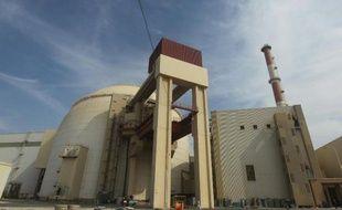 Le bâtiment de l'installation nucléaire du site de Bouchehr en Iran en octobre 2010