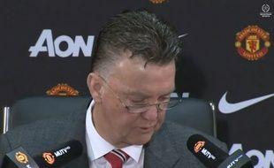 L'entraîneur de Manchester United Louis Van Gaal, le 6 février 2015.