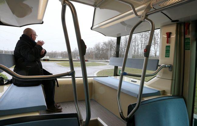 Le Bus de Alstom NTL électrique, présenté à Duppigheim (Alsace) le 9 mars 2017.
