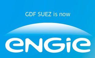 Le nouveau logo choisi par le groupe GDF-Suez, le 24 avril 2015.