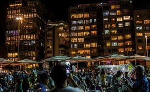 Les célébrations de fin d'année sur la plage de Copacabana, à Rio de Janeiro, au Brésil, le 1er janvier 2019.