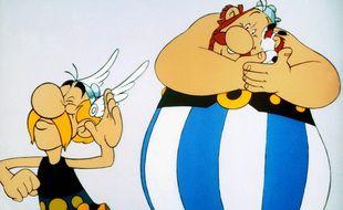 Astérix, Obélix et Idéfix dans une image extraite du film Astérix Le Gaulois sorti en 1967.