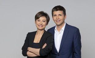 Alexandra Bensaïd et Thomas Sotto, les présentateurs de «L'émission politique».