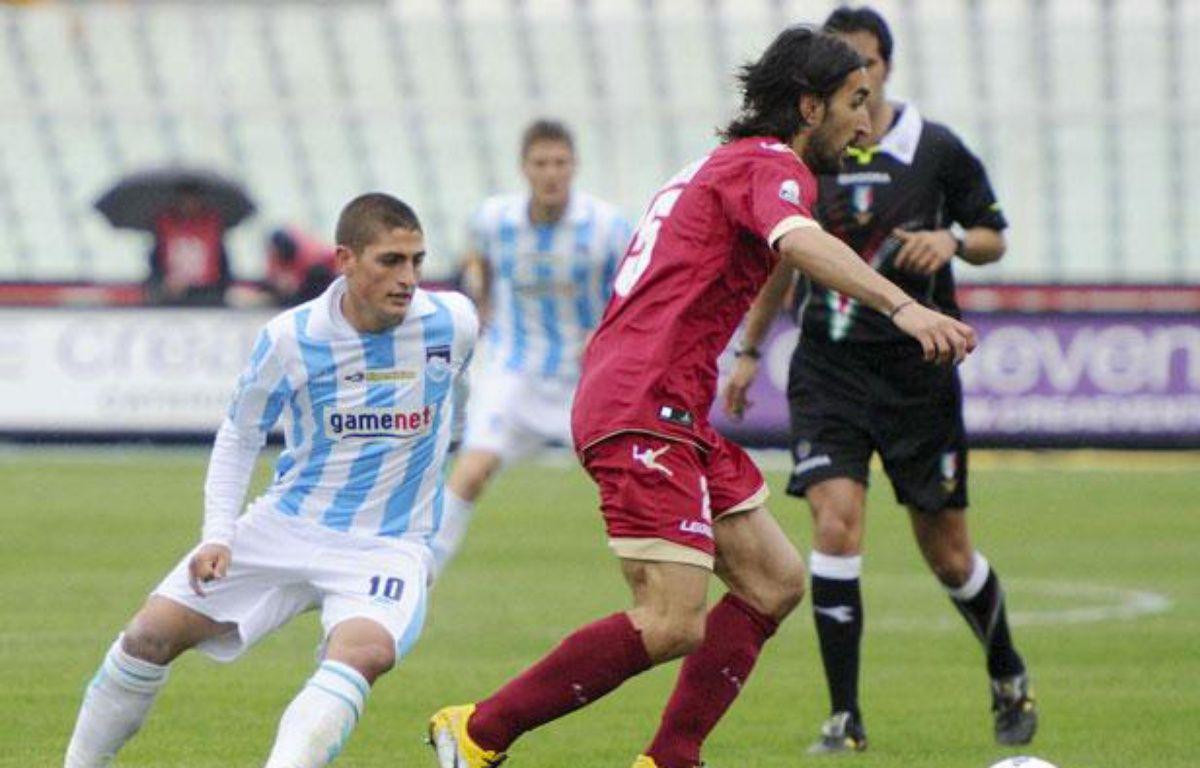 Marco Verratti (à gauche), le 14 avril 2012 face à Livourne. – Cristiano Chiodi/AP/SIPA