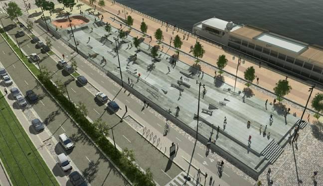Un visuel du nouveau skatepark de Bordeaux.