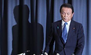 Le ministre des Finances japonais Taro Aso, le 4 juin 2018.