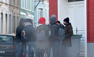 Calais, le 11 janvier 2017. Trois mois après le demantelement du camp de refugies de la jungle, les associations ont constate un retour au compte-goutte de migrants.