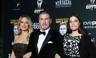 Les époux Kelly Preston et John Travolta, avec leur fille, Ella Travolta