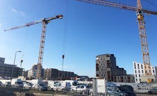 Quartier des Bassins à Flot à Bordeaux, le 6 mars 2018.