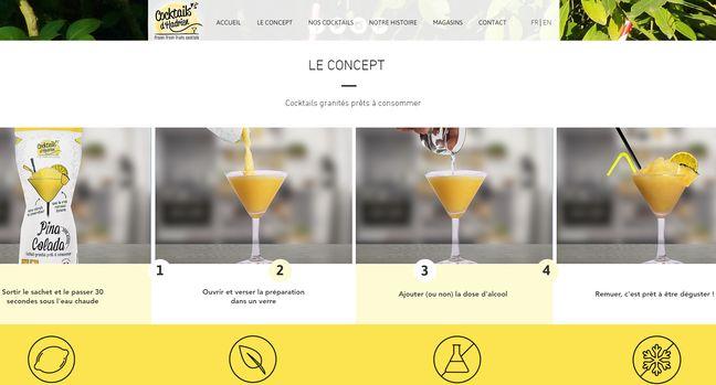 La fabrication des cocktails express.