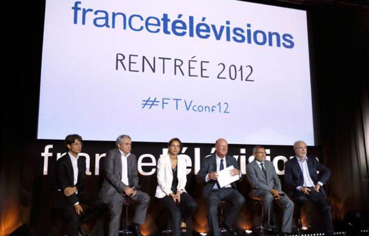 Conférence de rentrée de France Télévisions, le 28 août 2012. – PATRICK KOVARIK / AFP
