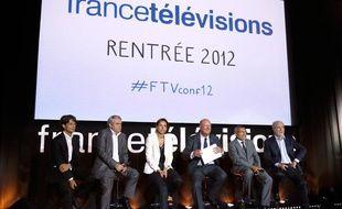 Conférence de rentrée de France Télévisions, le 28 août 2012.