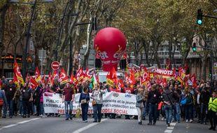 Lors d'une manifestation sociale dans les rues de Toulouse. (Illustration)