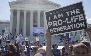 Manifestation des anti-IVG à Washington, le 26 juin 2018.