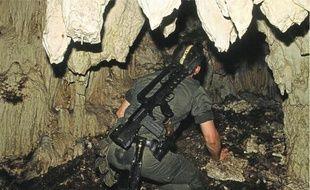 La grotte d'Ouvéa, où vingt-sept gendarmes ont été retenus en otages par des indépendantistes kanaks (archives).