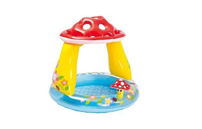 Piscine enfant Intex pataugette ombrelle champignon