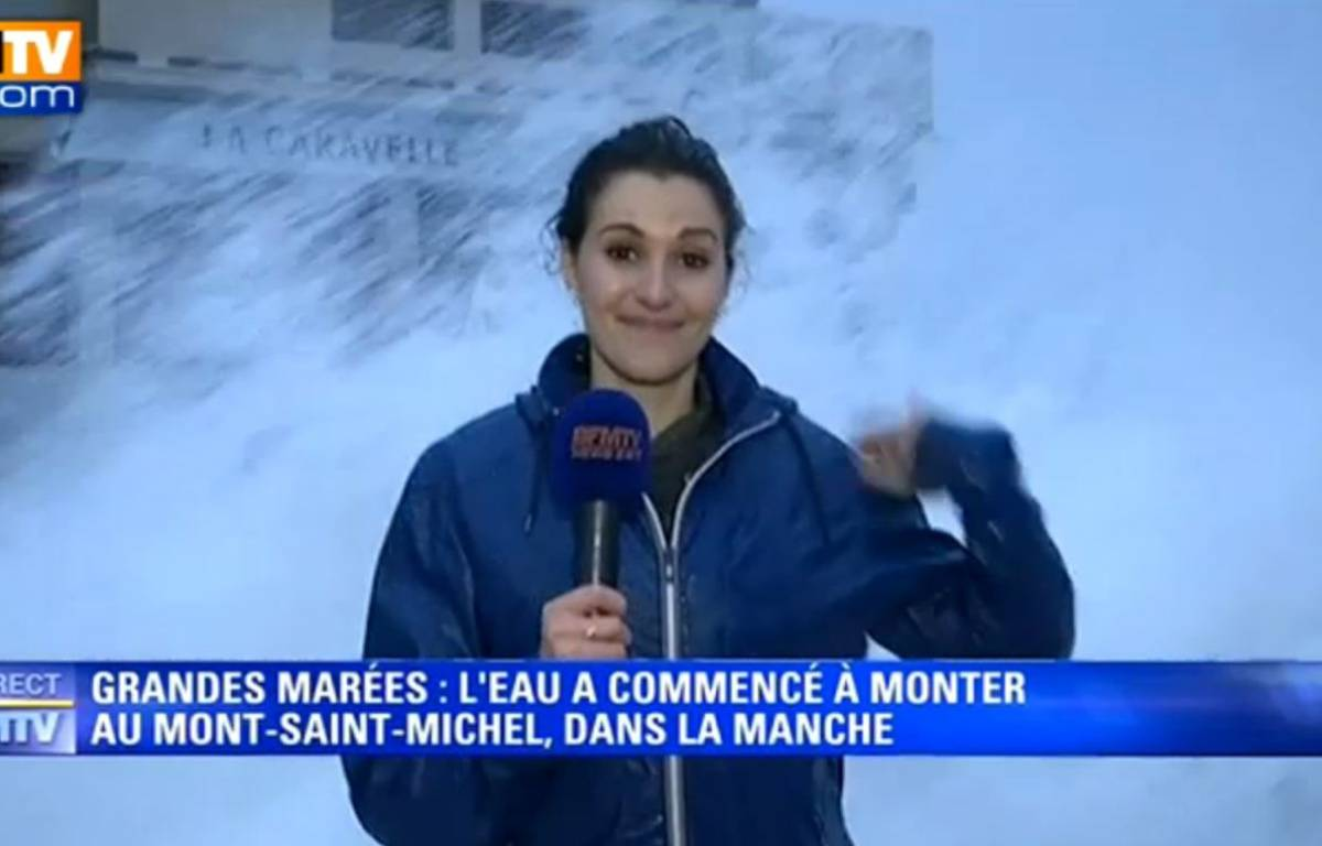 La journaliste de BFM TV Fanny Agostini, en direct de Saint-Malo. – Capture d'écran BFM TV
