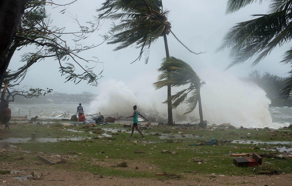 Les dégâts causés par le cyclone Pam sur la côté du Vanuatu, le 14 mars 2015. – UNICEF Pacific / AFP