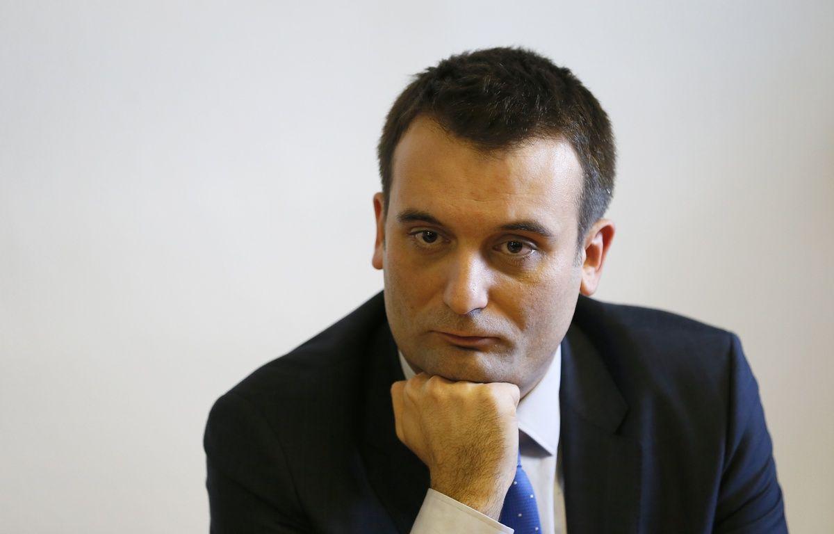 Le cice-président du Front National, Florian Philippot, ici en pleine conférence de presse, a donc perdu de nouveau à Forbach, comme en 2012 et 2014. – PATRICK KOVARIK / AFP