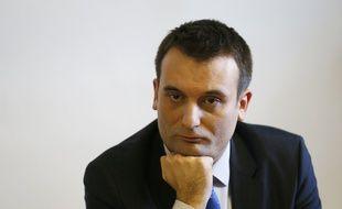 Le Vice-président du Front National, Florian Philippot en conférence de presse le 19 février 2016, à Taverny.