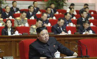 Le leader de la Corée du Nord, Kim Jong-un, lors du congrès du parti au pouvoir, à Pyongyang le 9 janvier 2021.