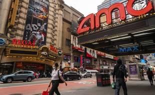 Des cinémas à Times Square, à New York le 24 octobre 2020.