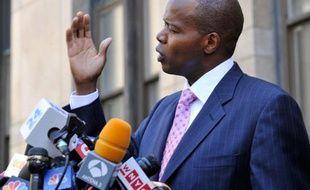 Kenneth Thompson, l'avocat de Nafissatou Diallo, lors de sa conférence de presse le 1er juillet 2011.