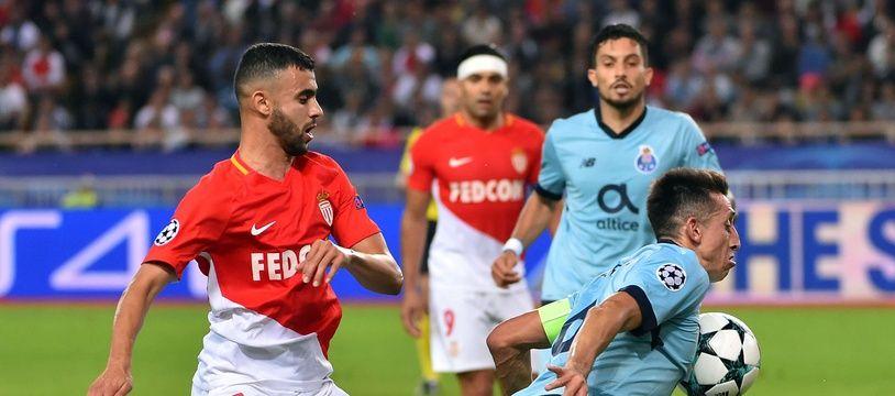 Rachid Ghezzal, ici lors de la défaite de l'ASM en Ligue des champions contre Porto (0-3). BRUNO BEBERT