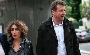 Isabelle Saporta et Yannick Jadot (à dr.), le 26 mai au soir, à Paris, avant la révélation des résultat des européennes.