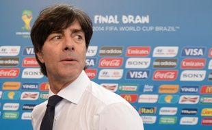 Joachim Löw, le sélectionneur de l'équipe d'Allemagne, en décembre 2013 lors du tirage au sort de la Coupe du monde 2014.