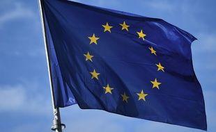 Un drapeau de l'Union européenne à Bruxelles.