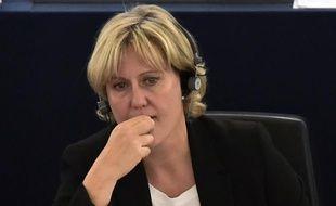 L'eurodéputée Nadine Morano au parlement européen le 7 octobre 2015 à Strasbourg
