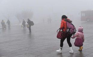Pollution à Pékin, le 31 janvier 2013.