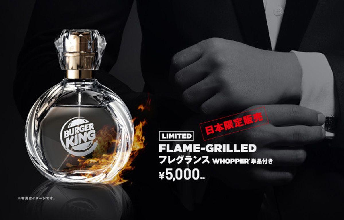 Publicité pour le parfum à l'odeur de sandwich Burger King – Burger King Japan
