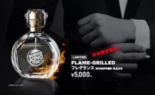Publicité pour le parfum à l'odeur de sandwich Burger King