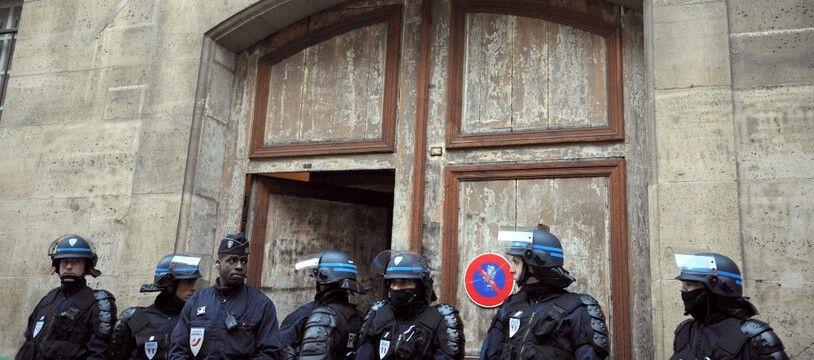 Lors de l'évécuation d'un squat du collectif Jeudi noir à Paris. (archives)
