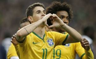 Oscar, premier buteur du Brésil, le 26 mars 2015.