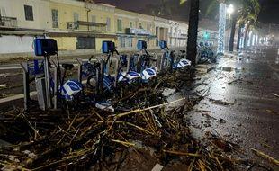 Nice a déjà subi les conséquences des vents violents de ces derniers jours.