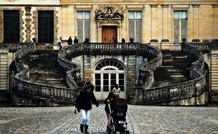 Le mythique escalier en fer à cheval du château de Fontainebleau.