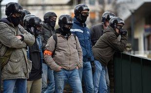 Des policiers de la BAC (brigade anti criminalité), lors d'une manifestation à Nantes, en mars 2018 (photo d'illustration).