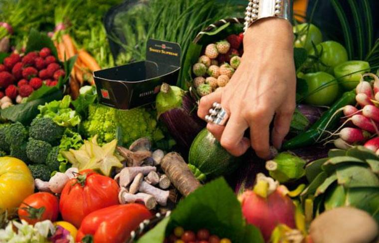 Illustration fruits et légumes.