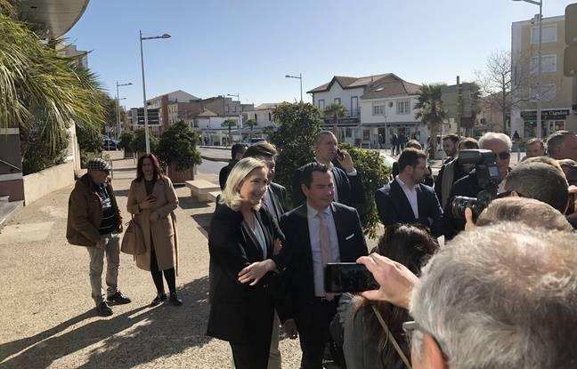Marine Le Pen et Sébastien Pacull