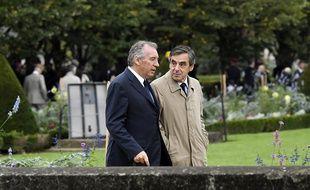 François Bayrou et François Fillon le 19 septembre 2016 à Paris.