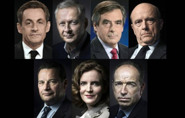 Les sept candidats.