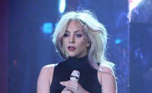 La chanteuse Lady Gaga sur la scène de Coachella en 2017