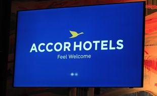 Le logo du groupe d'hôtellerie Accor, le 3 juin 2015.