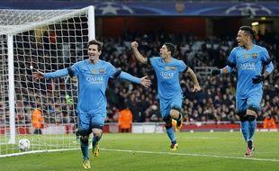 Messi a inscrit un doublé pour le Barça contre Arsenal en 8e de finale aller de la Ligue des champions, le 23 février 2016.